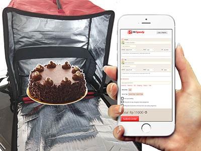 kurir online cake
